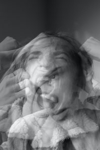 overlayed image showing a person with different emotions